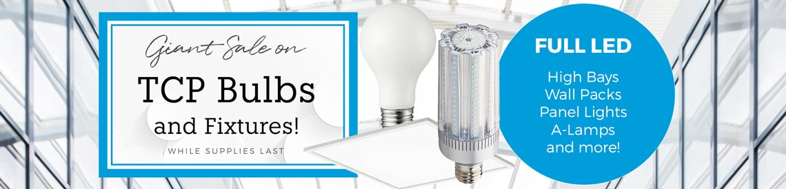 Sale on TCP LED Bulbs and Fixtures